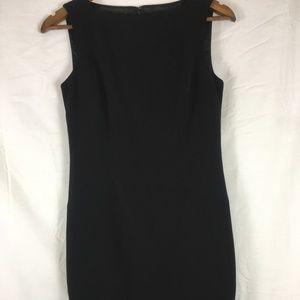 ANN TAYLOR Black Sleeveless Sheath Cocktail Dress